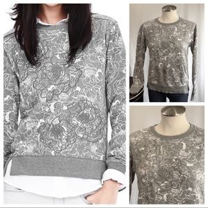 BANANA REPUBLIC Floral Appliqué Sweatshirt